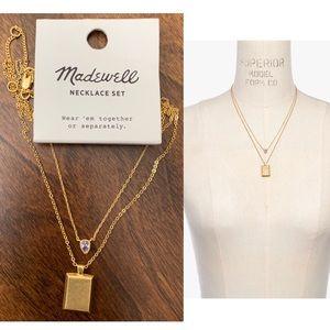 NEW Madewell Set of 2 Teardrop Pendant Necklace